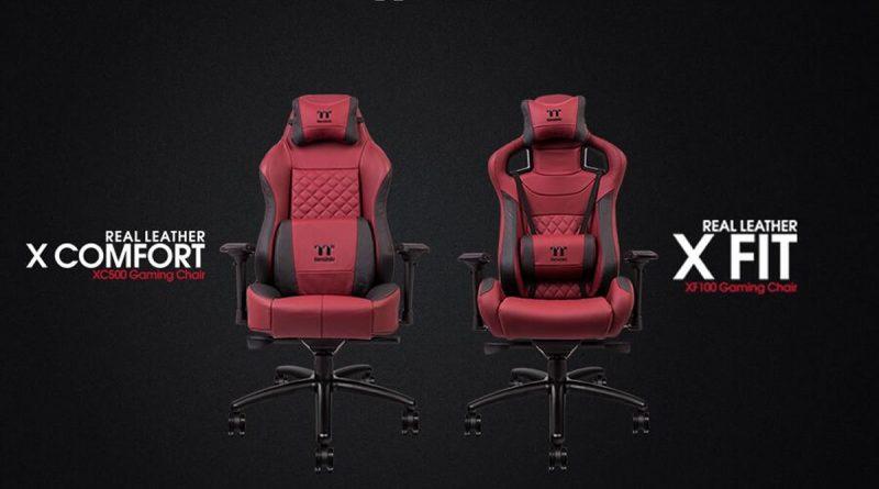 A Thermaltake bemutatta a burgundi piros X FIT és  X COMFORT székeit