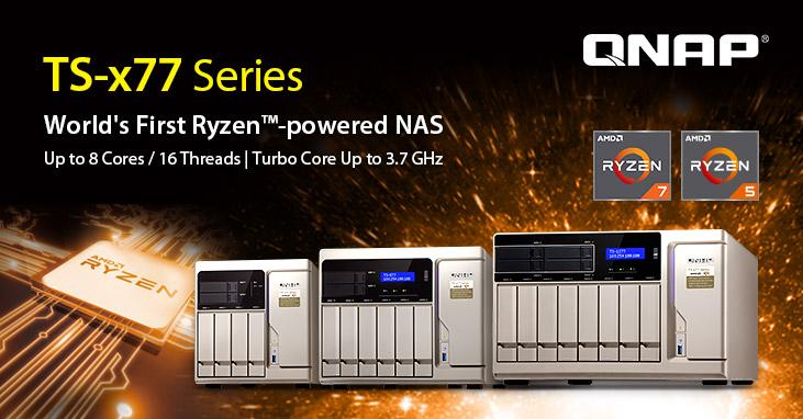 A QNAP 15%-os kedvezményt kínál az AMD Ryzen alapú TS-x77 sorozatú NAS-hoz